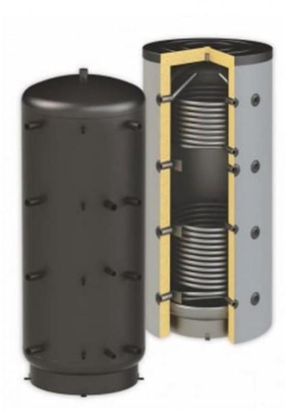 Pufferspeicher PBMR2 - 2 x Wärmetauscher